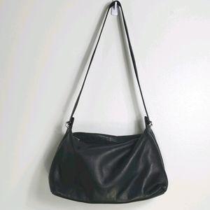 Vintage Rolfs Black Leather Shoulder Bag